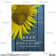Sunflower Wedding RSVP