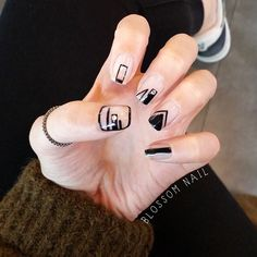 Negative space nail art   minimalist