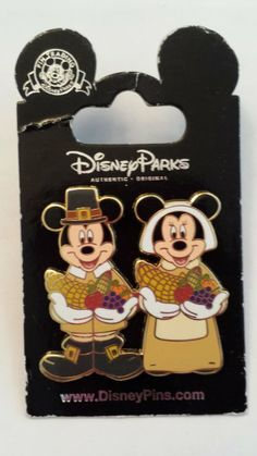 Mickey Mouse Happy Thanksgiving 2005 Magic Kingdom LE Disney Pin Trading Collectible Lapel Pins