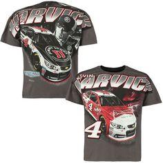 Kevin Harvick Checkered Flag Budweiser/Jimmy John's Total Print T-Shirt - Charcoal - $23.99