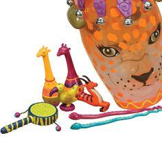Tublu.pl: Zestaw instrumentów afrykańskich w bębnie konga - Jungle Jam B. Toys