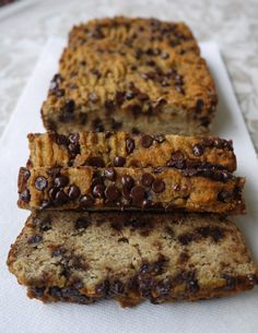 Chocolate Chip Banana Bread (paleo, GF) | Perchance to Cook