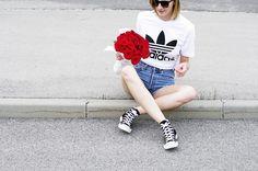 Katarina Vidic - Adidas Shirt, All On My Blog - All the roses.