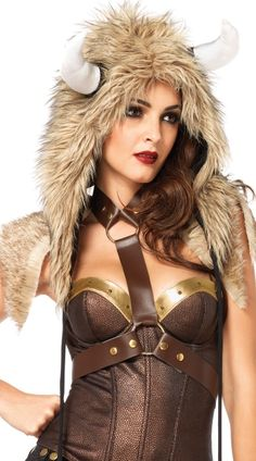 Our viking hat costume hood includes a soft, faux fur hood with horns and soft flail ties. The viking hat costume hood comes in one size that fits most adults. Viking Furry Hood with Flail Ties Costume. Halloween Costume Accessories, Family Costumes, Halloween Costumes For Girls, Halloween 2017, Viking Costume, Medieval Costume, Minotaur Costume, Viking Hood, Viking Shirt