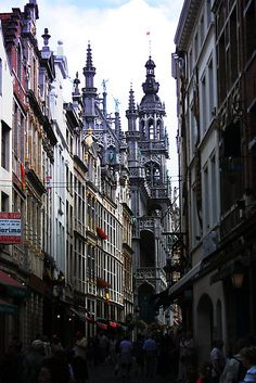 """The Old street in Brussels (Belgium)"" by Antanas.  Never have Cecil ask for directions the next time we drive through Belgium!!!"