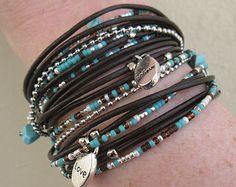 Wrap Bracelet// Rustic Wrap Bracelet// Multistrand by DesignsbyNoa