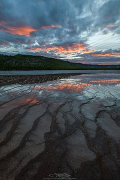 Terraced tendrils reaching for the sky Grand Prismatic Spring Yellowstone [13332000] [OC] #reddit