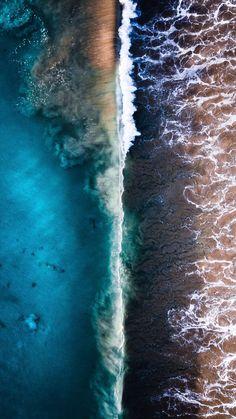 Beautiful ocean backgrounds for iphone – Cool backgrounds Ocean Backgrounds, Wallpaper Backgrounds, Wallpaper Borders, Iphone Wallpapers, Ocean Photography, Aerial Photography, Ocean Wallpaper, Beautiful Ocean, Aerial View