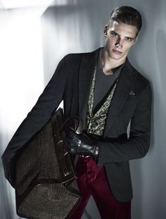 3057908ed670 Belgian model Florian Van Bael fronts the Fall Winter 2013 campaign of  Giorgio Armani