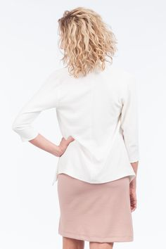 Take your look to the next level with this lapel sleeve jacket. This Jacket is a combination of quality and style. It features an open front, 3 quarter sleeves, and is a breathable fit. Quarter Sleeve, Bell Sleeve Top, Fit, Sleeves, Jackets, Tops, Women, Style, Fashion