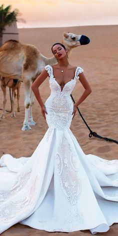 36 Lace Wedding Dresses That You Will Absolutely Love ❤ See more: http://www.weddingforward.com/lace-wedding-dresses/ #wedding