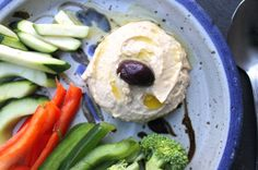 Paleo Hummus, made with cauliflower instead of chickpeas.