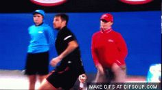The tennis player whose hand stayed there a little too long. | The 41 Most Awkward Things That Have Ever Happened