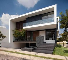 translation missing: tw.modern 住宅 by GLR Arquitectos Architecture Design, Modern Residential Architecture, Minimal Architecture, Amazing Architecture, Villa Design, Modern House Design, 3 Storey House Design, Facade House, Minimalist Home