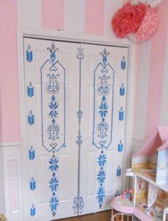 Home Heart and Hands: Frozen Inspired Painted Door. Elsa's Bedroom Door.