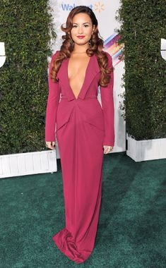Plunging Plum from Demi Lovato's Best Looks | E! Online