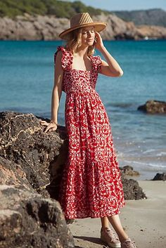 Felicity Embroidered Maxi Dress | Anthropologie Latest Outfits, Cool Outfits, Trendy Outfits, Maxi Floral, Anthropologie, Ondine, 50 Fashion, Fashion Bloggers, Fashion Styles