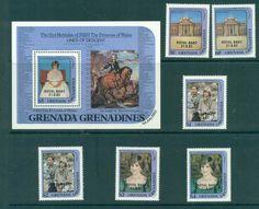 Grenada Grenadines 1982 Diana Baby Opt + MS MUH Lot30240
