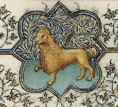 Lion from medieval Book of Hours