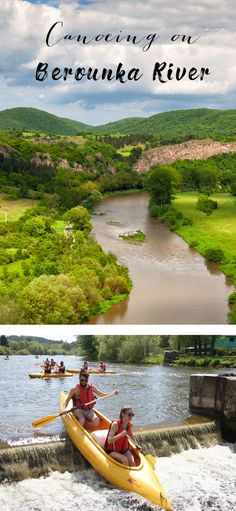 Enjoy the Czech's favorite water sport on the river Berounka with romantic and charming view Down The River, Canoeing, Discount Travel, Water Sports, Tour Guide, Czech Republic, Prague, Natural Beauty, Golf Courses
