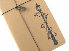 Narnia Lamppost  Hand Stamped Small Moleskine by TwoStrayCats, $11.95