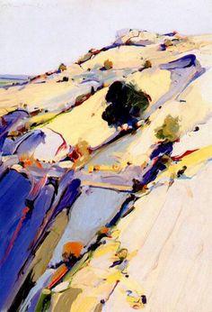 wayne thiebaud | Hillside 1963  those colors. those vibrant, vibrant lines. <3 <3