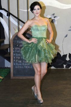 Dusty Green Cocktail Gown