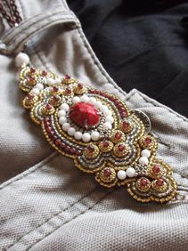 Bead Embroidery Belt