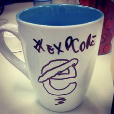 Manjo tudo de desenho na caneca do café! www.diariodebordo.net.br