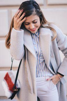 Pennyblack-flowing lined blouse cozy coat