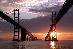 The world famous Chesapeake Bay Bridge! The bridge I cross to visit my family on the eastern shore!