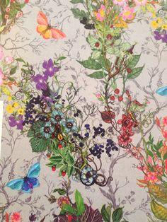 'Bloomsbury Garden' wallpaper by Scottish team Timorous Beasties timorousbeasties.com
