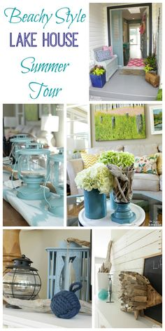 Come on in and take a tour of our Beachy Style Lake House Summer Tour at The Happy Housie