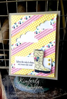 Bootiful Occasions stamp set, Silhouette Cameo, Washi Tape Techniques Kimberly Van Diepen, Stampin' Up! Birthday Cards For Men, Handmade Birthday Cards, Scrapbook Cards, Scrapbooking, Washi Tape Cards, Tape Crafts, Get Well Cards, Card Tags, Diy Cards