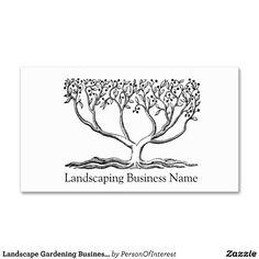 Landscape Gardening Business Card Business Card