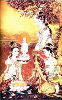 The birth of prince Siddhartha Gotama, Buddhism.