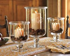 Cup of Delight: UPDATED Pottery Barn Inspired Fall Centerpiece