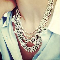 The Sutton in silver-- It's only 1 necklace but it can be worn 5 (!) ways! www.stelladot.com/amandahilzer