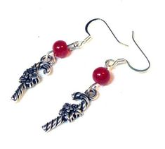 Wear these adorableCandy Cane Earrings any day or during the Christmas holiday season. -- By Linda of Linor Store Jewelry