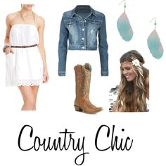 Pretty much the exact outfit for our engagement pictures! Country Chic, created by purplepanther186 on Polyvore