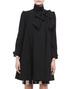 Black Bow Coat