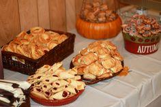 country fall wedding food