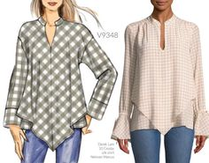 """945c53954b3 Sewing Patterns on Instagram  """"Sew the Look(tm)  this tunic  v9348. Inspo  tunic by Derek Lam 10 Crosby"""