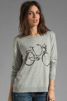 Joie Eloisa Bicycle Intarsia Sweater