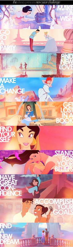 The Disney Princess New Year Challenge. It really bothers me when people say these are not great role models for girls.