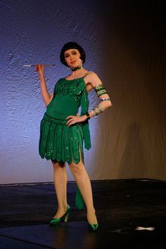"""AMAZING hand-made replica of Cyd Charisse's flapper dress from """"Singin' in the Rain."""""""