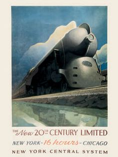 "The 1938 Art Deco 20th Century Limited was an express passenger train operated by the New York Central Railroad from 1902 to 1967, during which time it would become known as a ""National Institution"" and the ""Most Famous Train in the World"". In the year of its last run, The New York Times said that it ""…was known to railroad buffs for 65 years as the world's greatest train."""