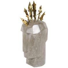 Antique Figurative Sculptures For Sale at Surreal Artwork, Bronze, Sculptures For Sale, Beaded Skull, Kelly Wearstler, Modern Sculpture, Decorative Objects, Vintage Shops, Home Accessories