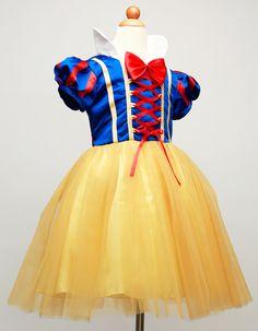Snow white Dress kids infant party dress girl costume vestido infantil de festa meninas Blancanieve fantasia de princesa disfraz
