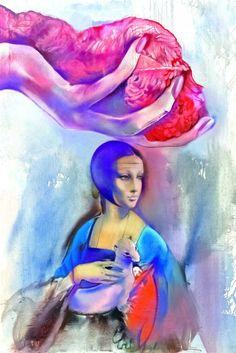 by artist Olga Olja Ivanjicki (1931—2009)